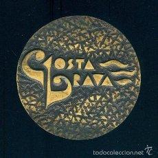 Medallas temáticas: NUMULITE FIGURA 0008 MEDALLA CONMEMORATIVA EL AMOR SE CITA EN PLATJA D'ARO ARO COSTA BRAVA 4,3 CM. Lote 56613399