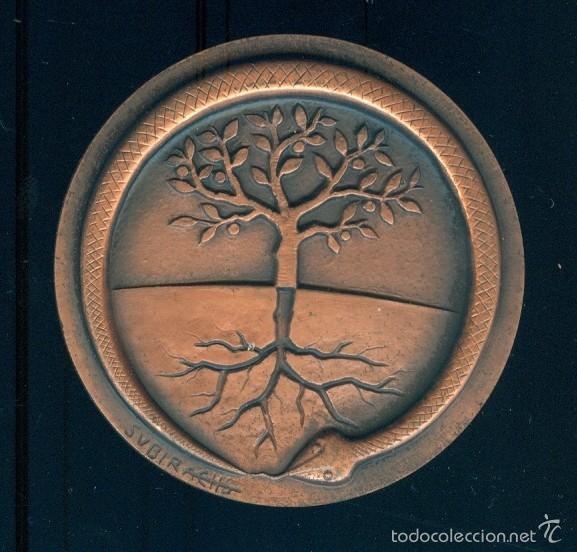 NUMULITE FIGURA 0030 MEDALLA CONMEMORATIVA SUBIRACHS CONGRÉS METGES BIÒLEGS LLENGUA CATALANA REUS (Numismática - Medallería - Temática)