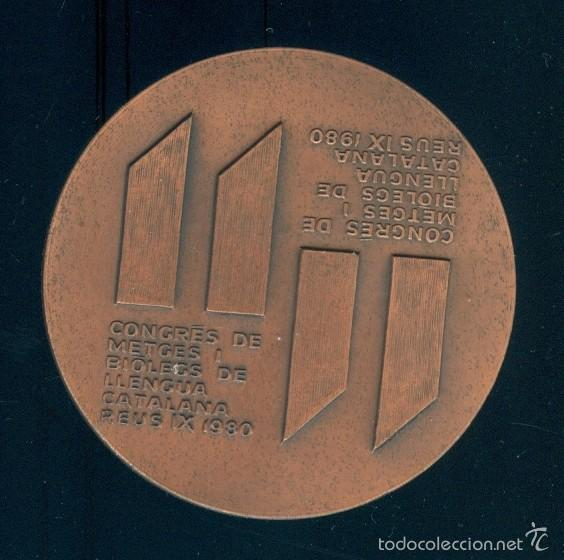 Medallas temáticas: NUMULITE Figura 0030 Medalla Conmemorativa Subirachs Congrés metges biòlegs llengua catalana Reus - Foto 2 - 56613555