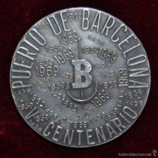 Medallas temáticas: MEDALLA EN PLATA I CENTENARIO JUNTA DEL PUERTO DE BARCELONA Y V CENTENARIO DEL PUERTO DE BARCELONA. Lote 56647988