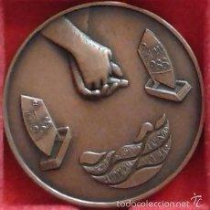Medallas temáticas: MEDALLA CONVIVENCIAS CLASE OPTIMIST 1988. COBRE 50 MM TEMA NÁUTICO, MARÍTIMO, BARCO, BARCOS. Lote 56909801