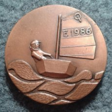 Medallas temáticas: MEDALLA CONVIVENCIAS CLASE OPTIMIST 1986. COBRE 50 MM TEMA NÁUTICO, MARÍTIMO, BARCO, BARCOS. Lote 56911090