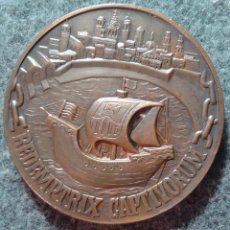 Medallas temáticas: MEDALLA AYUNTAMIENTO DE BARCELONA 1968. COBRE 62 MM TEMA NÁUTICO, MARÍTIMO, BARCO, BARCOS. Lote 56811250