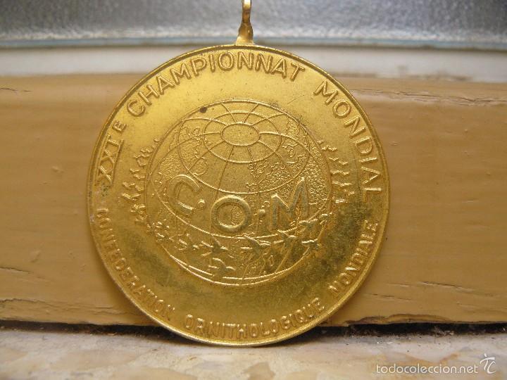 MEDALLA CONMEMORATIVA DEL CAMPEONATO MUNDIAL ORNITOLOGICO DE 1973 - ROTTERDAM- HOLANDA (Numismática - Medallería - Temática)