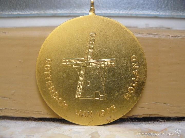 Medallas temáticas: MEDALLA CONMEMORATIVA DEL CAMPEONATO MUNDIAL ORNITOLOGICO DE 1973 - ROTTERDAM- HOLANDA - Foto 2 - 56957036