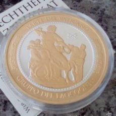 Thematic medals - BONITA MONEDA PLATA Y ORO LUCHA DE LAOCOONTE EDICION LIMITADA CON SU CERTIFICADO - 107559072