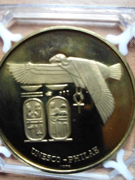 Medallas temáticas: MEDALLA OFICIAL UNESCO 1975 CONMEMORATIVA NUBIA - Foto 2 - 57050795