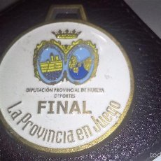 Medallas temáticas: MEDALLA ESMALTADA HUELVA ESCUDOS//DIPUTACION PROVINCIAL DE HUELVA//ESCUDOS CORONADO. Lote 65653627
