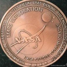 Medallas temáticas: CURIOSA MONEDA DE COBRE PURO 999 U.S.A NASA CONMEMORATIVA DE LA EXPLORACION EN MARTE AGOSTO DEL 2012. Lote 57116128