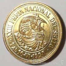 Medallas temáticas: MEDALLA FERIA PREOLIMPICA MADRID. COBRE DORADO 30 MM TEMA NÁUTICO, MARÍTIMO, BARCO, BARCOS. Lote 57225928