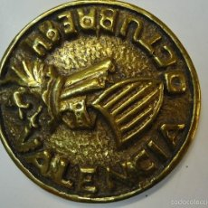 Medallas temáticas: MEDALLA CON ESCUDO DE VALENCIA. OCTUBRE 1984. DIÁMETRO 8 CM EN BRONCE. Lote 57708070
