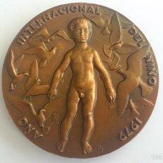 Medallas temáticas: MEDALLA 1979, AÑO INTERNACIONAL DEL NIÑO, BRONCE DIAMETRO 8,5 CM, F.N.M.T. Lote 57766327
