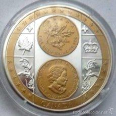 Medallas temáticas: BONITA MONEDA PLATA Y ORO DE 1 MILLION DOLLARS ELIZABETH II EDICION LIMITADA. Lote 57800049