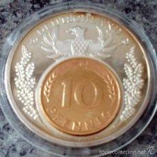 Medallas temáticas: BONITA MONEDA CONMEMORATIVA PLATA 1950 EN HONOR A LA MONEDA ALEMANA ANTIGUA EL PFENNIG. Lote 57816388