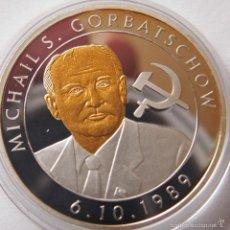 Thematic medals - BONITA MONEDA PLATA Y ORO DE MICHAIL GORBATSCHOW 1989 EDICION LIMITADA - 57903764