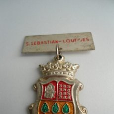 Medallas temáticas: MEDALLA DE SEBASTIAN A LOURDES - ORIGINAL. Lote 57924905