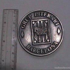 Medallas temáticas: MEDALLA METÁLICA DEL GRUP LITERARI DE BARCELONA. POESIA VIVA.. Lote 58335238