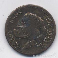 Medallas temáticas: FICHA MINERS BANK ROCKER DUCK-1912. Lote 58433263
