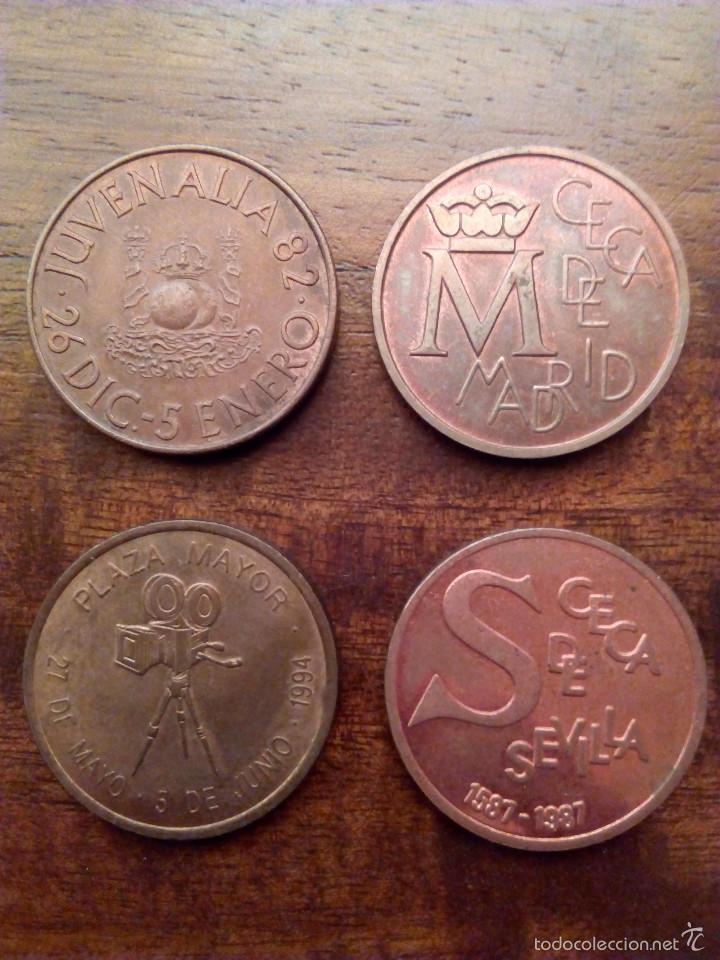 LOTE 4 MEDALLAS FNMT. (Numismática - Medallería - Temática)