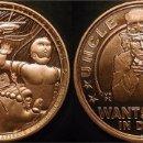 Medallas temáticas: MONEDA PUPPET MASTERS, UNCLE SCAM, DANIEL CARR, USA, EDICION LIMITADA 197 PIEZAS. Lote 59745796