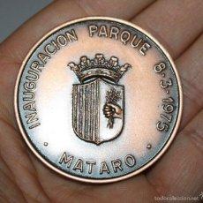 Medallas temáticas: MEDALLA INAUGURACIÓN PARQUE DE BOMBEROS DE MATARÓ 1975. Lote 60738247