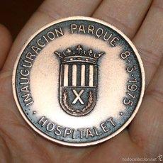 Medallas temáticas: MEDALLA INAUGURACIÓN PARQUE DE BOMBEROS DE HOSPITALET 1975 . Lote 60738251