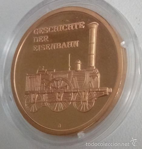 BONITA MONEDA GESCHICHTE DER EISENBAHN HISTORIA DEL FERROCARRIL EDICION LIMITADA (Numismática - Medallería - Temática)