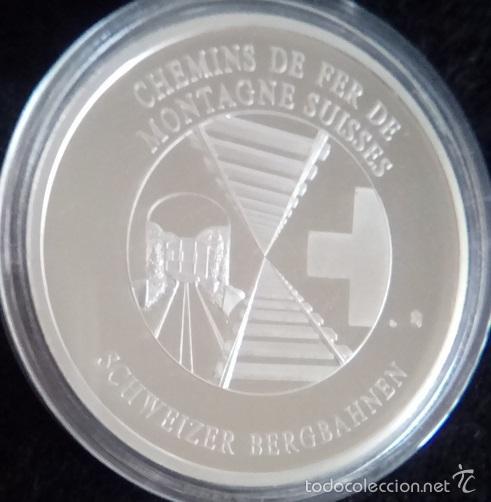 Medallas temáticas: MONEDA DEL TREN SUIZO DE LA MONTAÑA EL GLACIER EXPRESS TREN TURISTICO DESDE 1930 - Foto 2 - 61125817