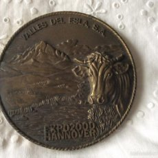 Medallas temáticas: MEDALLA DE GRAN TAMAÑO EXPO2000 HANNOVER VALLES DEL ESLA . S. A.BODEGAS VEGA SICILIA. S. A. Lote 61338259