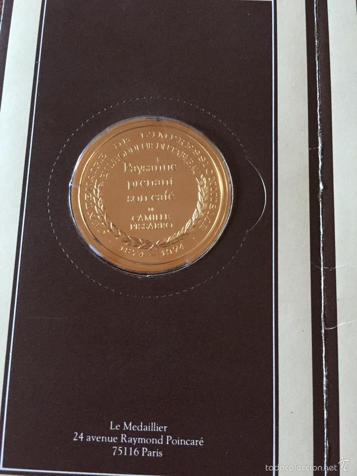 """Medallas temáticas: Medalla francesa """"Les Chefs doeuvre de limpeessionnisme - Foto 2 - 61491903"""