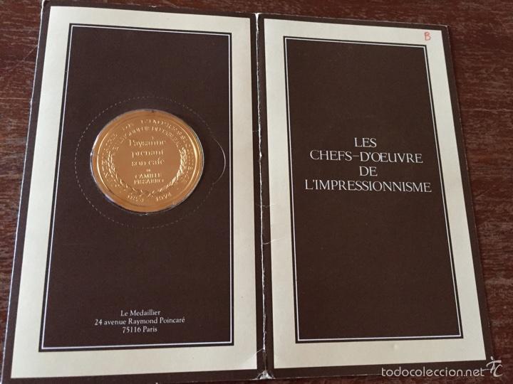 """Medallas temáticas: Medalla francesa """"Les Chefs doeuvre de limpeessionnisme - Foto 4 - 61491903"""