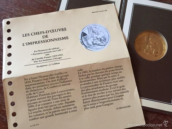"""Medallas temáticas: Medalla francesa """"Les Chefs doeuvre de limpeessionnisme - Foto 5 - 61491903"""