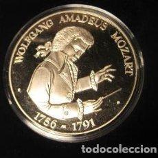 Medallas temáticas: MONEDA MEDALLA CONMEMORATIVA DE MOZART 1756 - 1791 200 ANIVERSARIO EDICION LIMITADA CON CERTIFICADO. Lote 43203012
