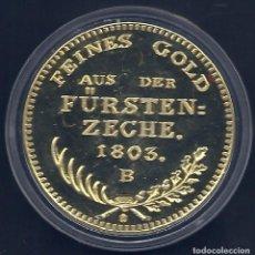 Medallas temáticas: ALEMANIA - MEDALLA EN LA CAPSULA - ORO DE LA FUERSTENZECHE 1803 - DUCADO DE PRUSIA - BAÑADA EN ORO. Lote 62195500