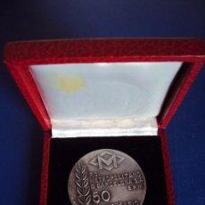 Medallas temáticas: (ANT-161054)MEDALLA DE PLATA ( 97 GRS. ) F.C.METROPOLITANO DE BARCELONA 50 ANIVERSARIO 1924-1974. Lote 62331676