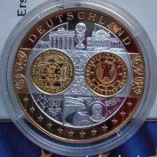 Medallas temáticas: BONITA MONEDA DE PLATA Y ORO CONMEMORATIVA A ALEMANIA ENTRANDO EN EUROPA. Lote 62419620