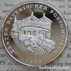 Medallas temáticas: BONITA MONEDA DE PLATA CONMEMORATIVA AL PRIMER OMNIBUS DE CORREOS EN BAVIERA ALEMANIA AÑO 1905. Lote 62425620