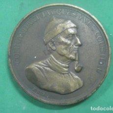 Medallas temáticas: ENORME MEDALLA DE BRONCE CINCELADO DE JACQUES YVES COUSTEAU Y SU BARCO EL CALYPSO, 210 GRAMOS. Lote 62621360