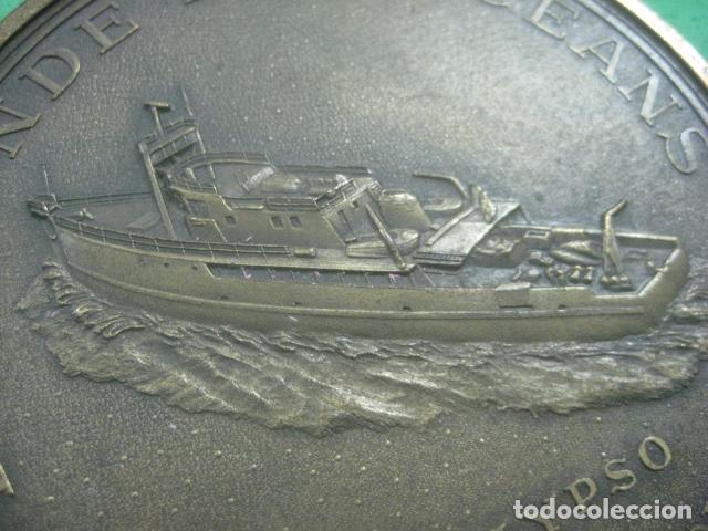 Medallas temáticas: ENORME MEDALLA DE BRONCE CINCELADO DE JACQUES YVES COUSTEAU Y SU BARCO EL CALYPSO, 210 GRAMOS - Foto 6 - 62621360