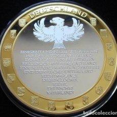 Medallas temáticas: BONITA MONEDA MEDALLON XXL 70 MM CONMEMORATIVO A ALEMANIA A LA UNIDAD,DERECHO Y LIBERTAD ED.LIMITADA. Lote 97760036