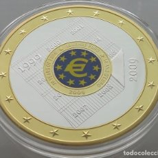 Medallas temáticas: BONITA MONEDA MEDALLON XXL 70 MM DEL 2009 CONMEMORATIVA A 10 AÑOS DEL EURO 1999-2009 EDICION LIMIT.. Lote 96295372