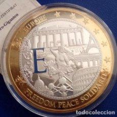 Medallas temáticas: BONITA MONEDA MEDALLON XXL 70 MM DEL 2010 CONMEMORATIVA A EUROPA EDICION LIMITADA. Lote 72197235
