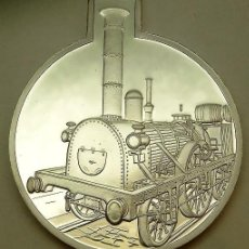 Medallas temáticas: CURIOSA MONEDA CONMEMORATIVA AL FERROCARRIL A LA ADLER DE 1835 QUE FUE LA PRIMERA LOCOMOTORA A VAPOR. Lote 64140967