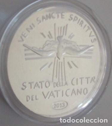 BONITA MONEDA DEL VATICANO EN PLATA NUEVA DE 2013 ESTADO DE LA CIUDAD DEL VATICANO SEDE VACANTE 1978 (Numismática - Medallería - Temática)