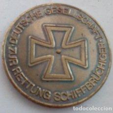 Medallas temáticas: CURIOSA MONEDA MEDALLA BRONCE DEL SALVAMENTO DE NAUFRAGOS EN ALEMANIA. Lote 41411426