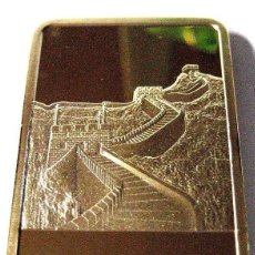 Medallas temáticas: BONITO LINGOTE DE LA GRAN MURALLA CHINA EDICION LIMITADA Y NUMERADA DIFICIL DE CONSEGUIR. Lote 126418047