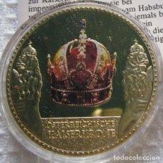 Medallas temáticas: MONEDA CON ORO Y PIEDRAS PRECIOSAS DE LA CAMARA DE TESOROS EN VIENA LA CORONA DE AUSTRIA. Lote 132359562