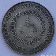Medallas temáticas: MEDALLA - 375 ANIVERSARIO - ILUSTRE COLEGIO DE ABOGADOS DE MADRID - 1596-1971 - PLATA. Lote 66973362