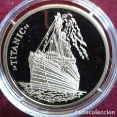Medallas temáticas: BONITA MONEDA DE PLATA CONMEMORATIVA AL TITANIC EDICION LIMITADA CON SU CERTIFICADO. Lote 67946089