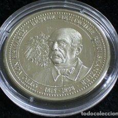 Medallas temáticas: BONITA MONEDA DE PLATA OTTO V BISMARCK CANILLER DEL REICH EDICION LIMITADA. Lote 68023825